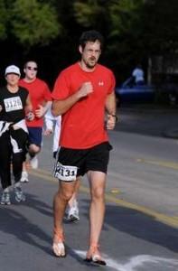 David Csonka running in his Xero Shoes